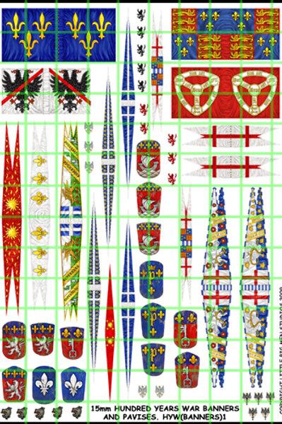 100 Years War Banners 15mm