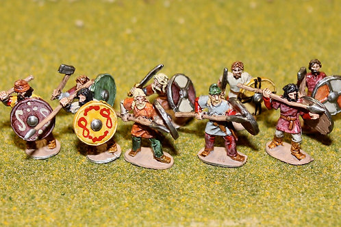 15mm Late Saxon Fyrd (Charging)
