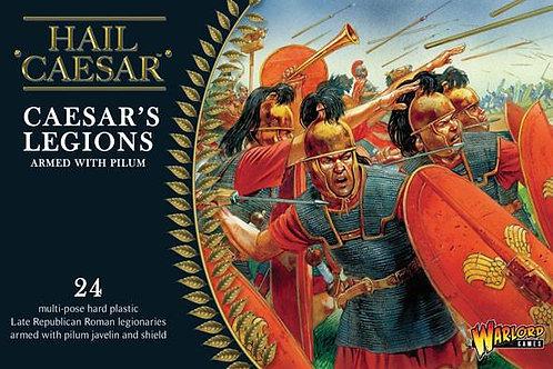 CAESAR'S LEGIONS ARMED WITH PILUM