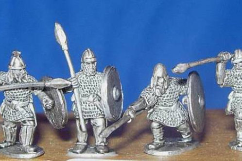 15mm Early Saxon Heavy Infantry (with spears)