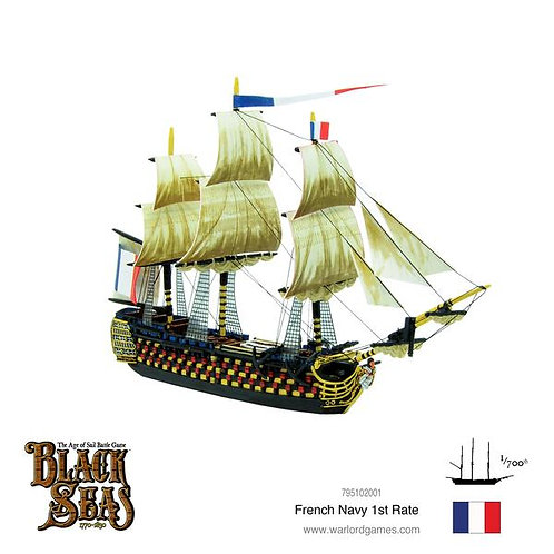 French 1st Rate - Black Seas