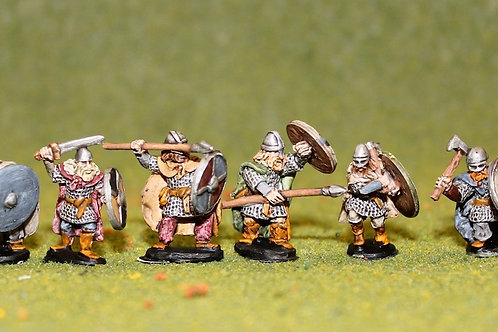 15mm Viking Huscarls with Spears, Swords, Axes