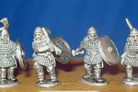 15mm Early Saxon Heavy Infantry (with swords/axes)