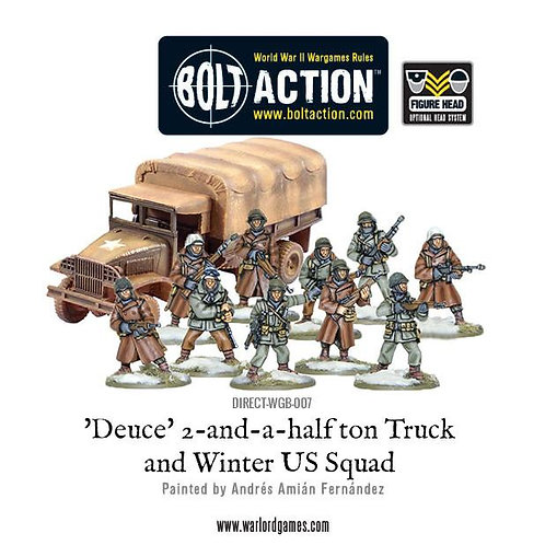Deuce 2-and-half ton truck with US Winter Squad