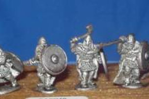 15mm Early Saxon Heavy Infantry (in cloaks)