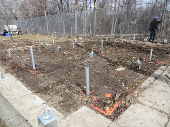 Clubhouse Construction - Screw Pile Foundation & Floor Joists