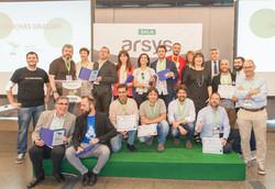 Recogida del premio al mejor Proyecto Solidario 2018 en los Open Awards de OpenExpo Europe.