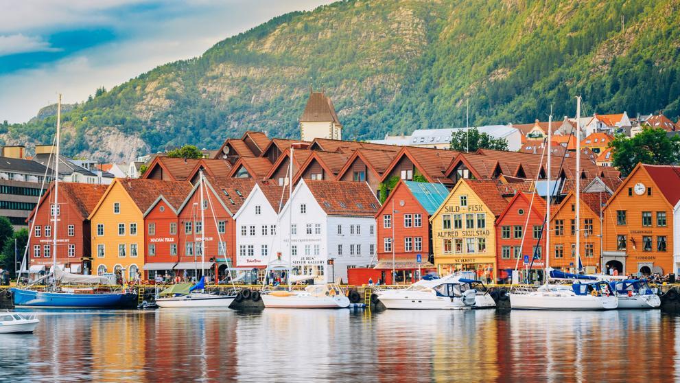 Las míticas casas coloridas de Bergen