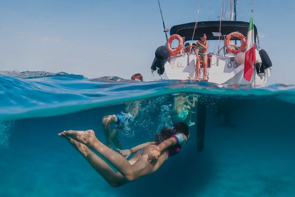 Un poco de snorkel antes de comer