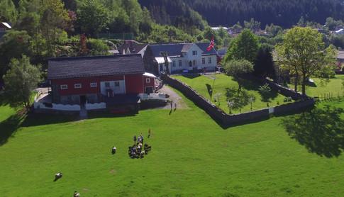 Storstuen på Øvre-Eide Gård