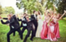 Танец друзей жениха и подружек невесты