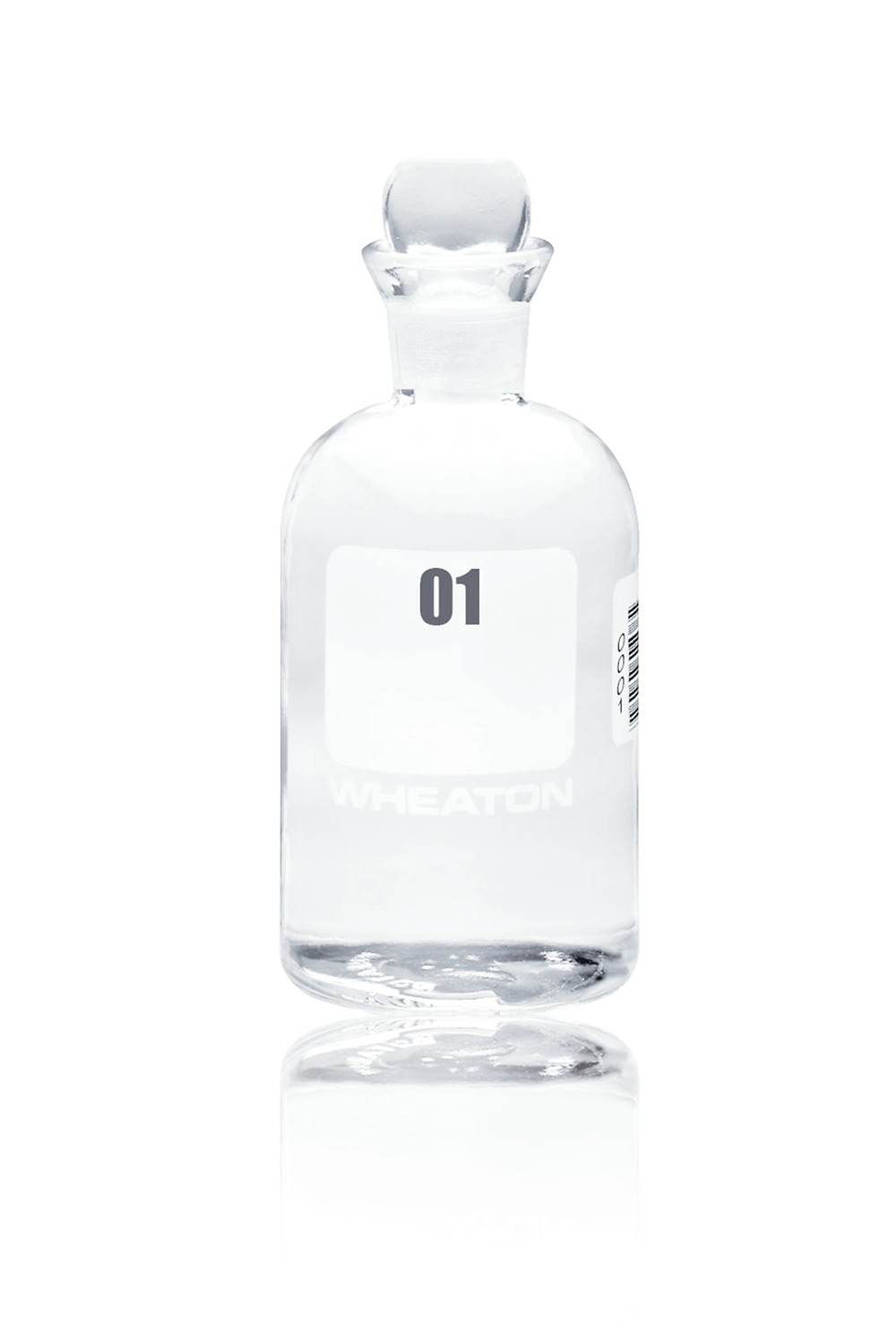 Wheaton BOD Bottle with Glass Pennyhead Stopper
