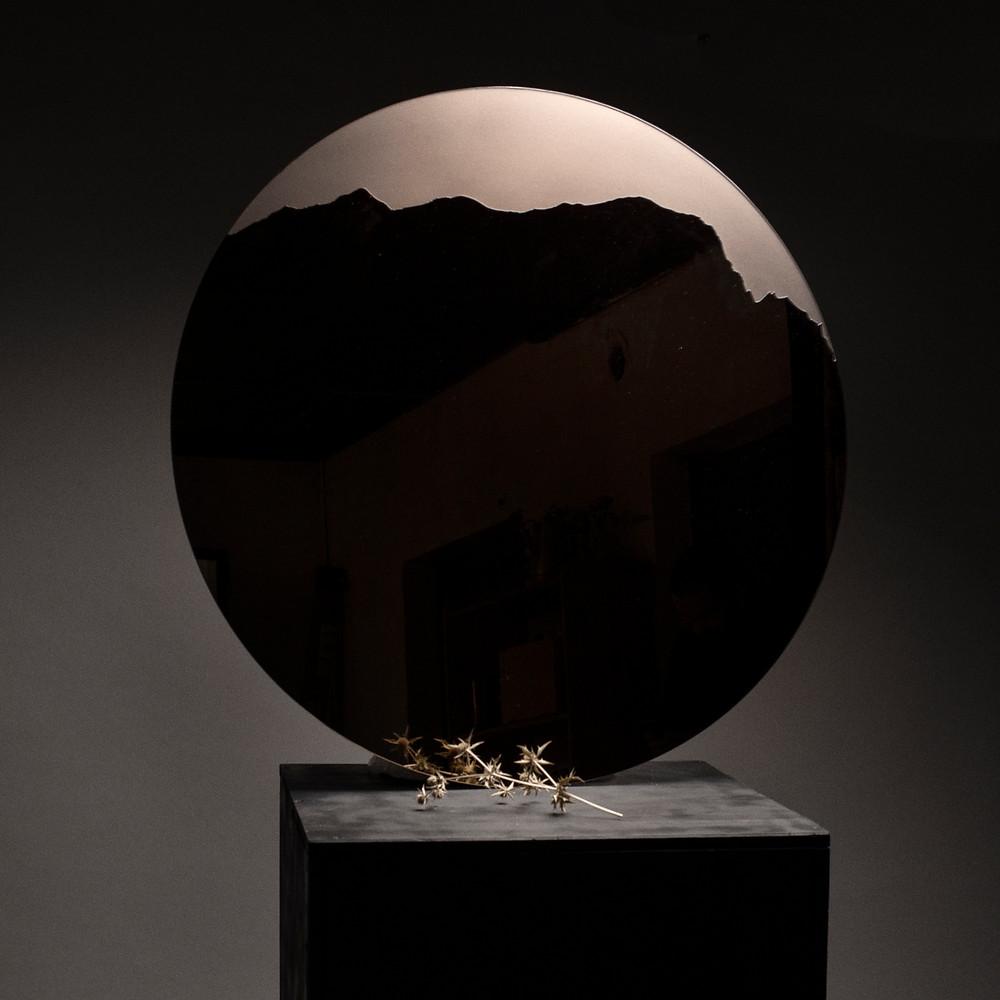 sculpture en verre, miroir design