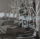Forest Rhythm, Lizzie Rose, 20x20cm, ink