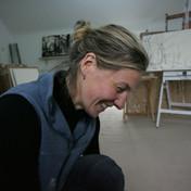 working in my studio 2012