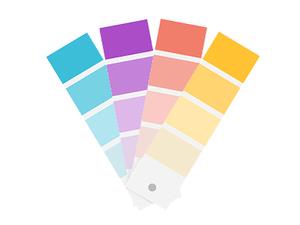 Ilustración de una paleta de colores