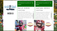Ryan Luft, Jacob Tauber take home Week 8 Conference Players of the Week honors
