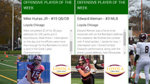 Huiras, Aleman take home Week 9 National & Conference Players of the Week honors