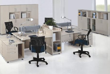 A variety of office furniture options