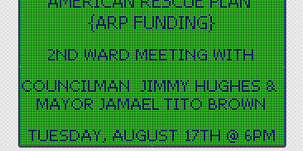 AMERICAN RESCUE PLAN- 2ND WARD MEETING