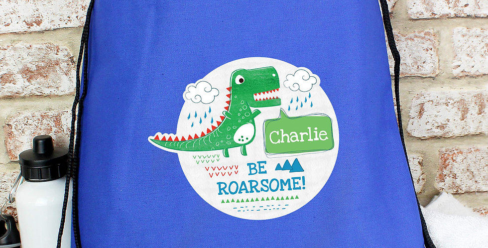 'Be Roarsome' Dinosaur Swim & Kit Bag