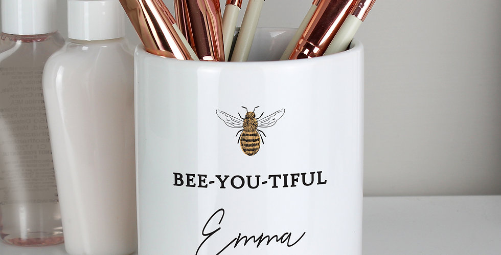 Personalised Bee-u-tiful Ceramic Storage Pot