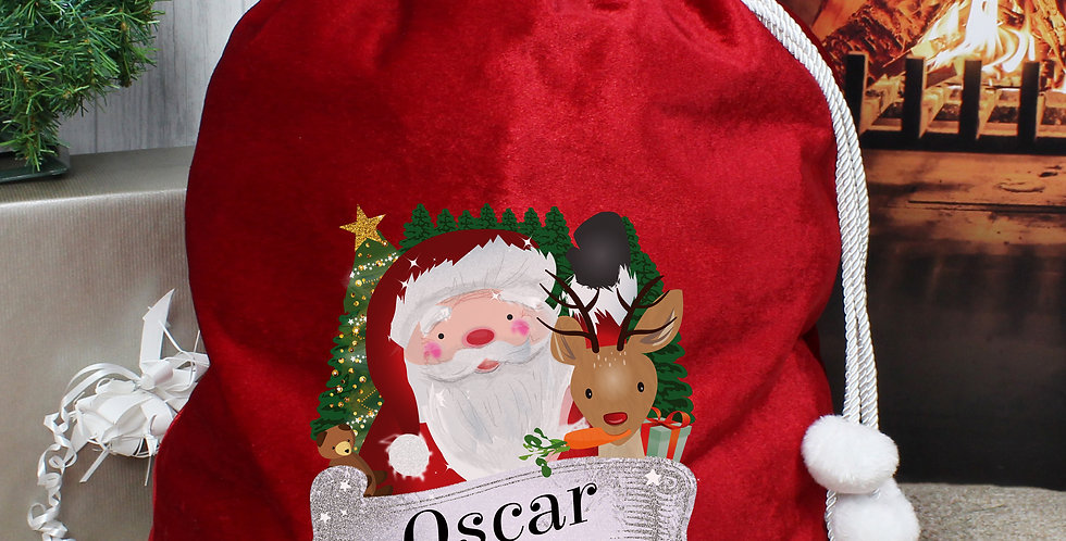 Personalised Christmas Santa Red Sack
