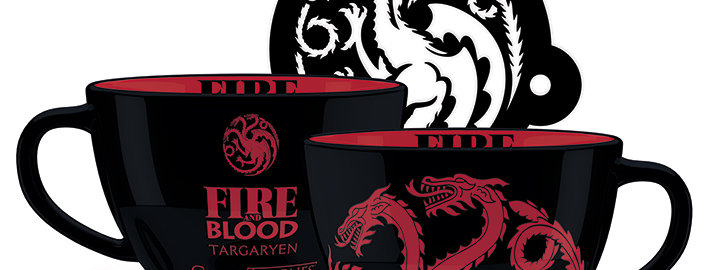 Game of Thrones (Targaryen) Cappuccino Mug with Stencil