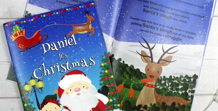 """Personalised Boys """"It's Christmas"""" Story Book, Featuring Santa and his Elf"""