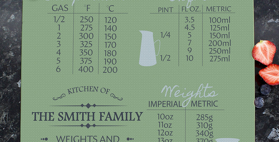 Personalised Conversions Glass Chopping Board/Worktop Saver