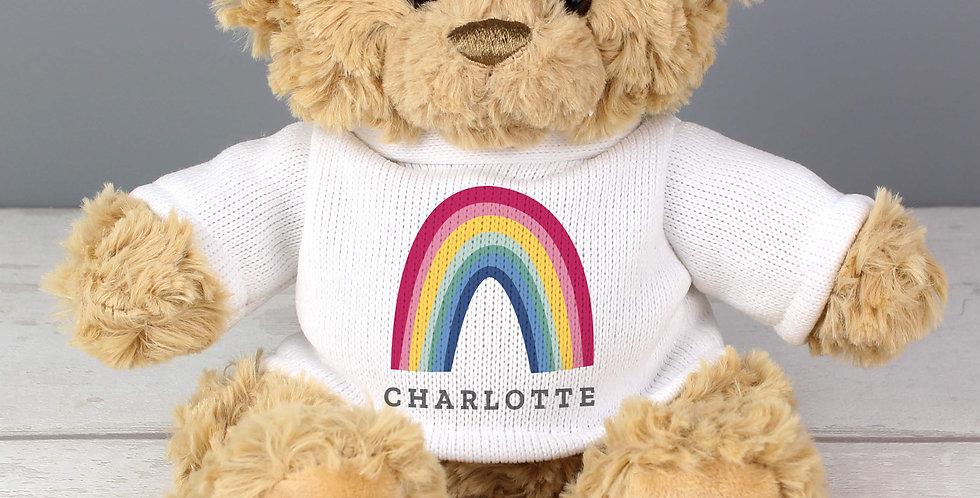 NHS and Key Worker Personalised Rainbow Teddy Bear