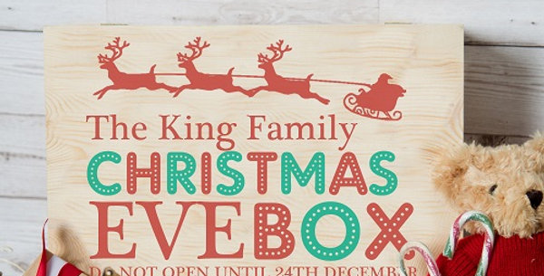 Family Christmas Eve Box Sleigh Design