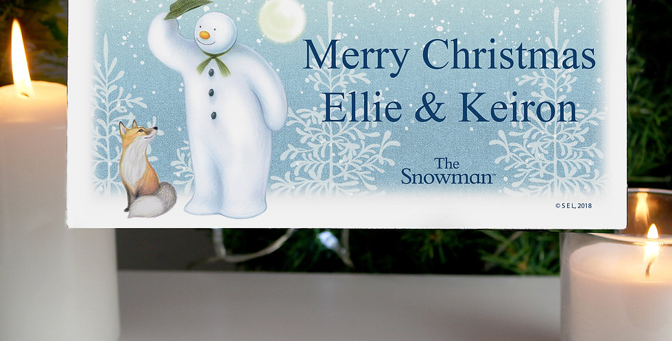 Personalised The Snowman Snow Wonder Wooden Sign