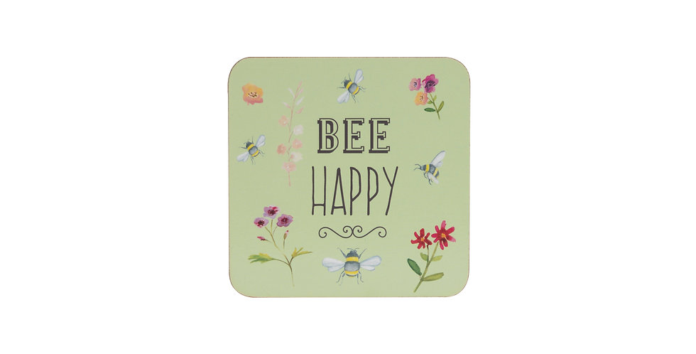 Bee Happy Set of 4 Coasters