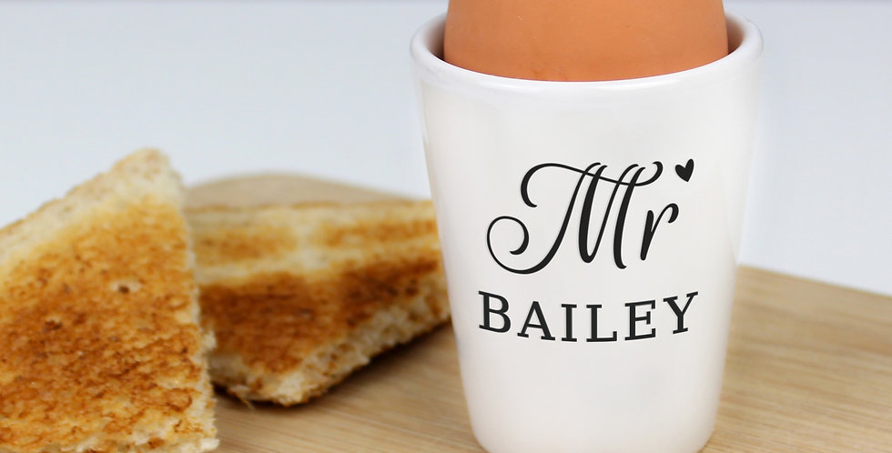 Personalised Mr Egg Cup