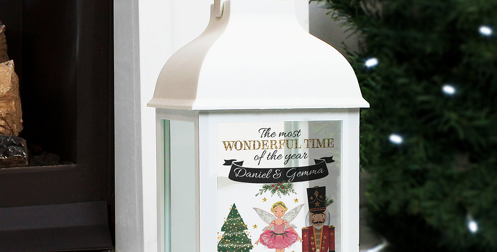 Personalised Nutcracker White Lantern