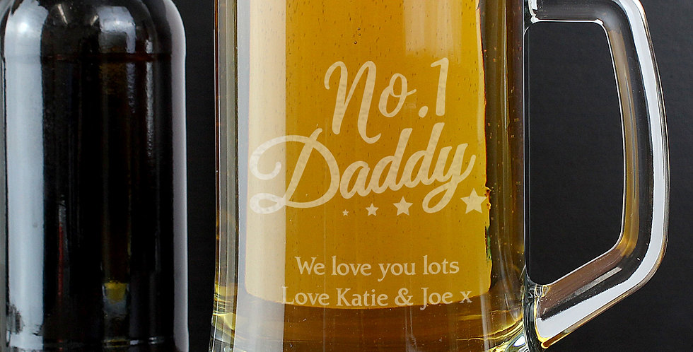 No.1 Daddy Glass Pint Stern Tankard