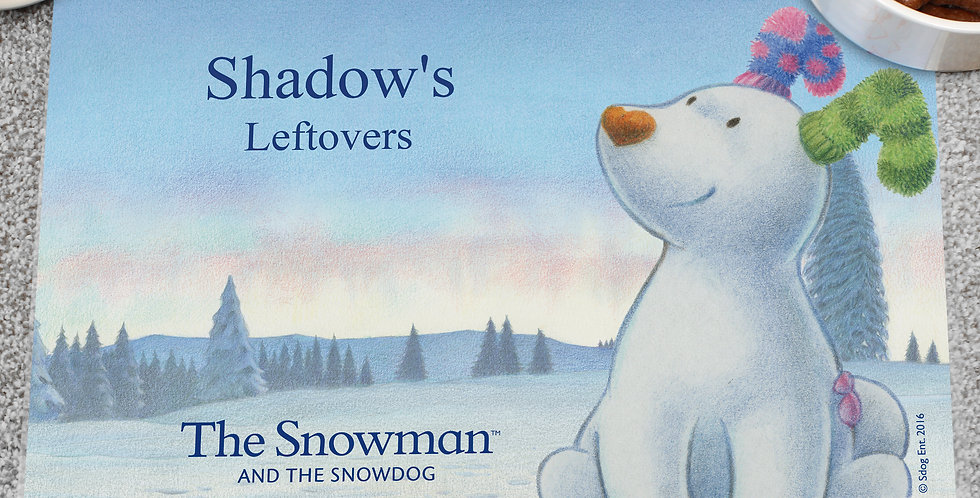 Personalised The Snowdog Pet Placemat