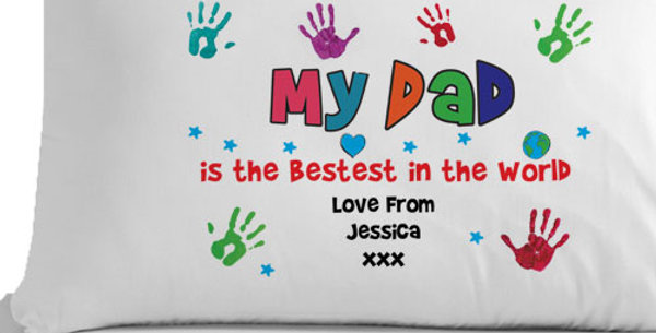 Personalised Bestest Dad/Daddy Pillowcase