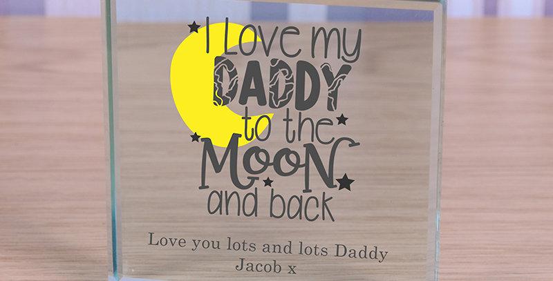 I love My Daddy - Glass Token