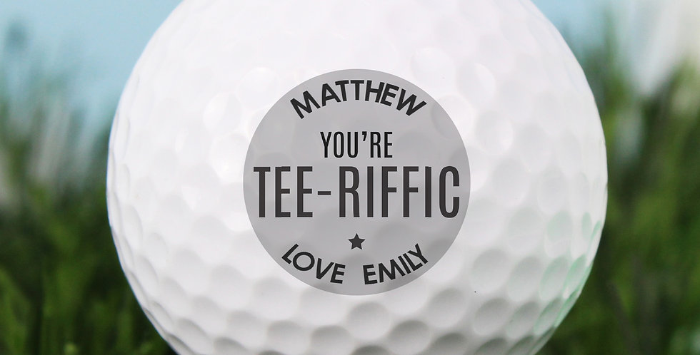 Personalised Tee-riffic Golf Ball