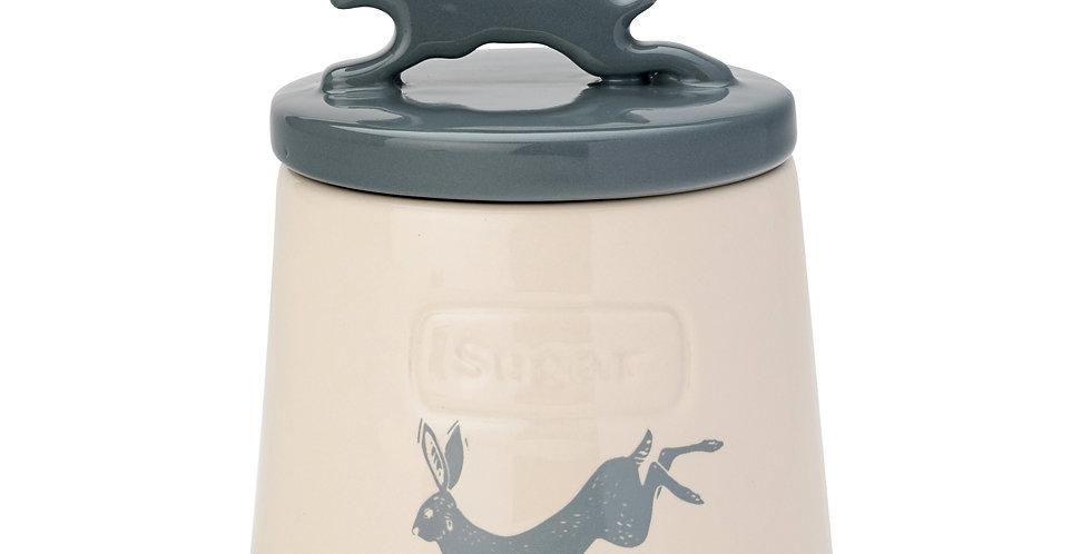 Artisan Hare Earthenware Sugar Pot