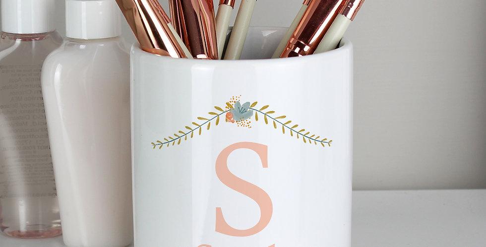Personalised Floral Bouquet Ceramic Storage Pot