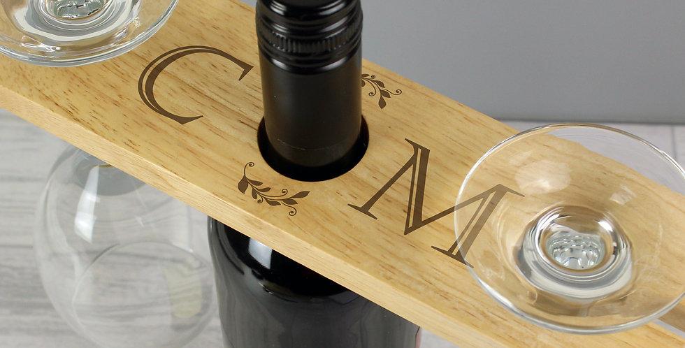 'Initials' Wine Glass & Bottle Butler