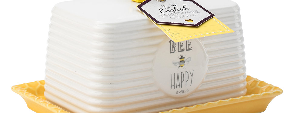 Bee Happy Butter Dish