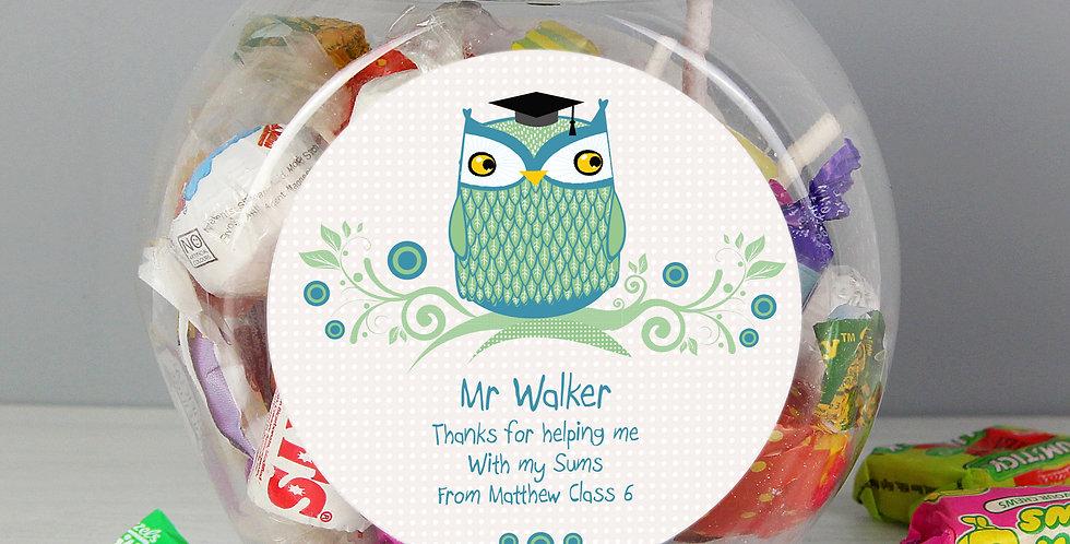 Mr Teacher Owl Sweet Jar
