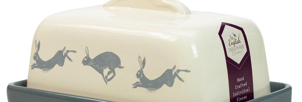 Artisan Hare Stoneware Butter Dish
