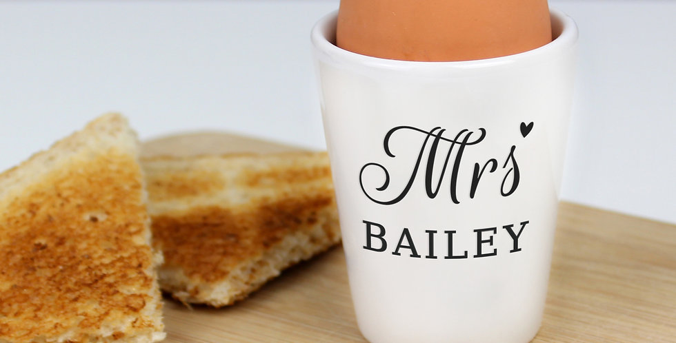 Personalised Mrs Egg Cup