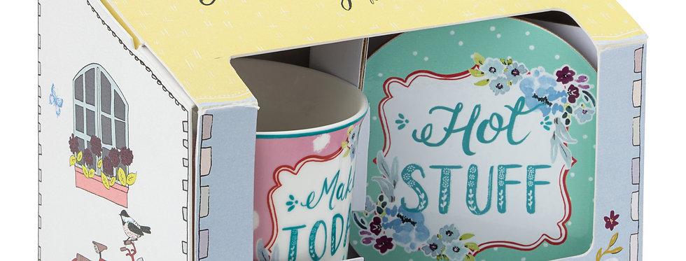 Ashley Thomas Collection - Happy Place Mug, Coaster and Tray Set