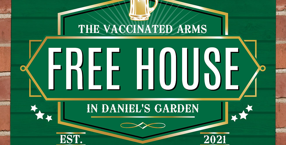 Personalised Free House Green Metal Sign
